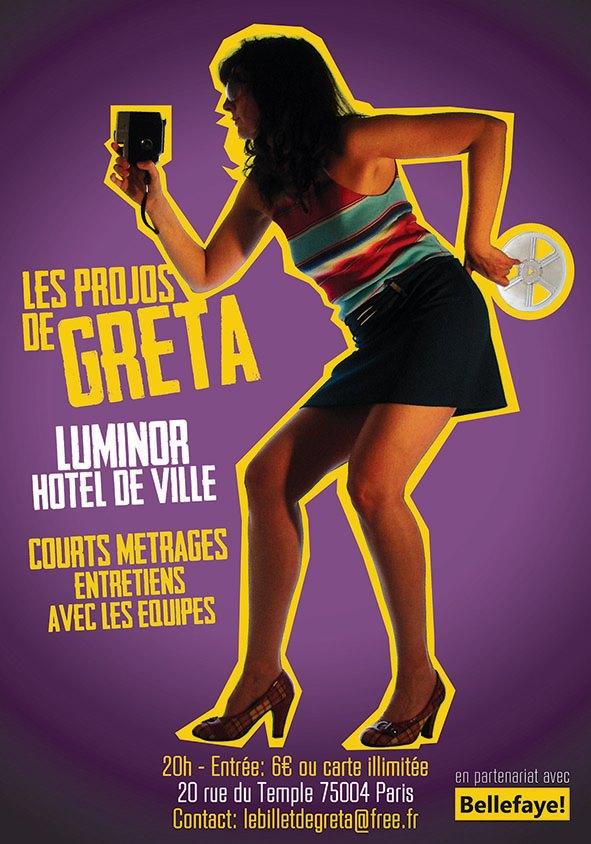 les projections de Greta au Luminor